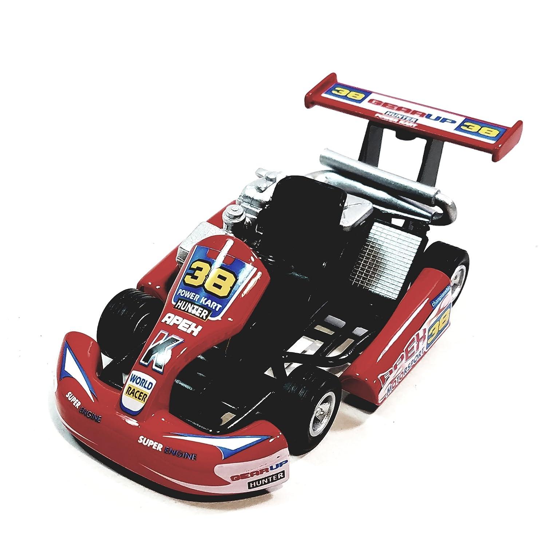Amazon.com: Kinsmart Red #38 Hunter Motorsport Turbo Go Kart 5