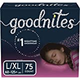 Goodnites Bedwetting Underwear for Girls, L/XL, 75 Ct, Stock Up Pack