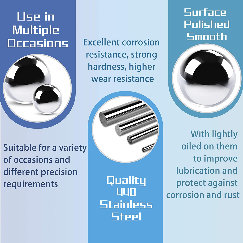 0.375 High Precision Balls /& Monkey Fist Ball Metallic Silver Afrowlle 500 PCS 3//8 Inch Stainless Steel Bearing Ball Martensiti Stainless Steel