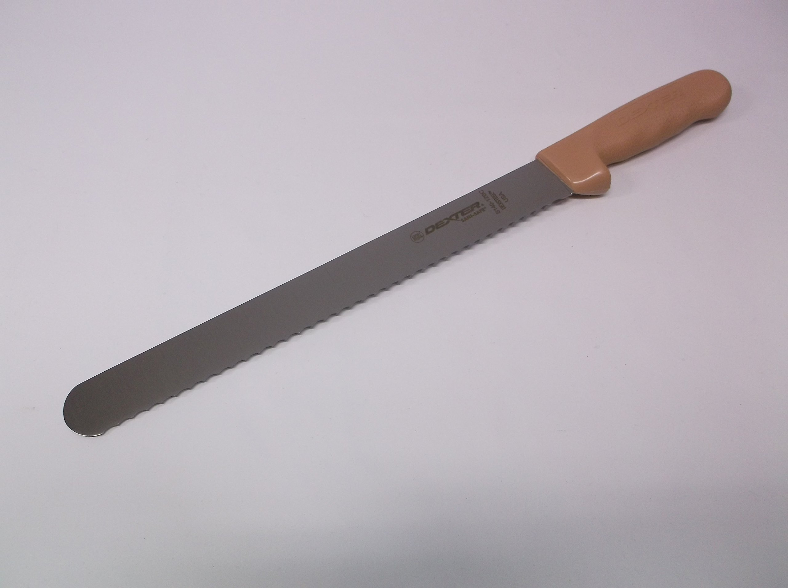Dexter Russell S140-12SC Commercial Serrated Scalloped Bread Slicer Long 12 inch Stainless Steel Blade Brand New & Razor Sharp