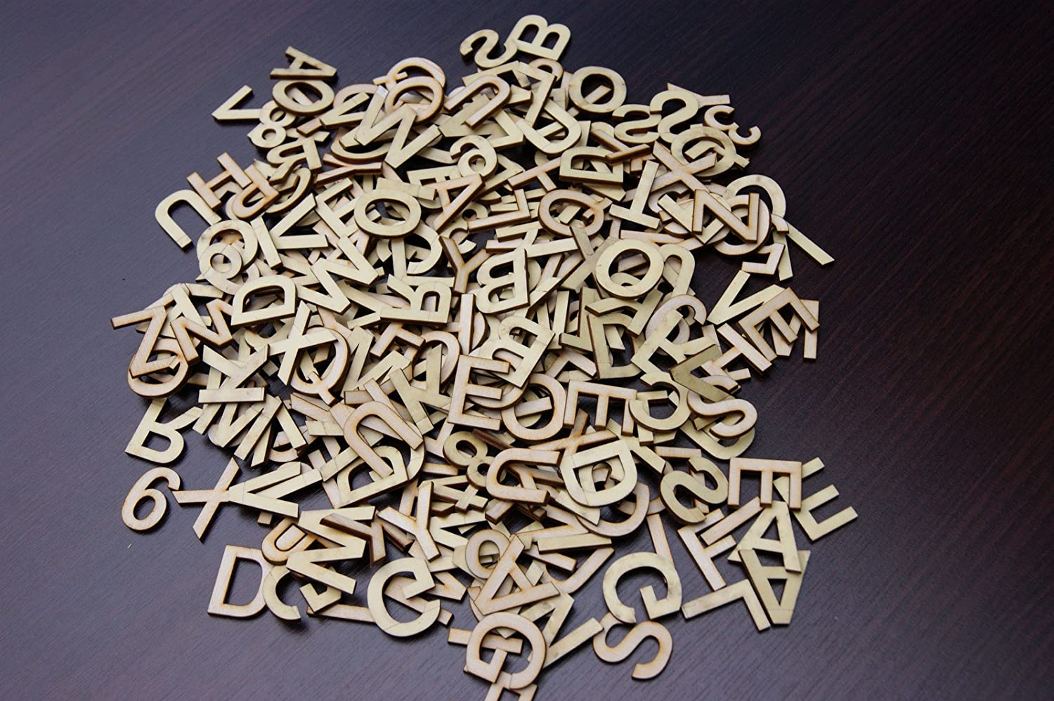 3CM 250 PLAIN WOODEN SMALL LETTER /& DIGITS ADHESIVE LETTERS CRAFT DECOUPAGE