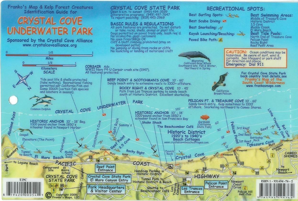 Crystal Cove Underwater Park Newport Beach California Map ...