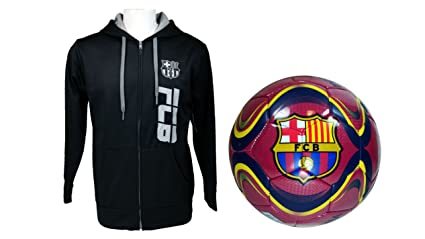 Image Unavailable. Image not available for. Color  FC Barcelona Official Soccer  Hoodie Jacket   Size ... bec3c4359