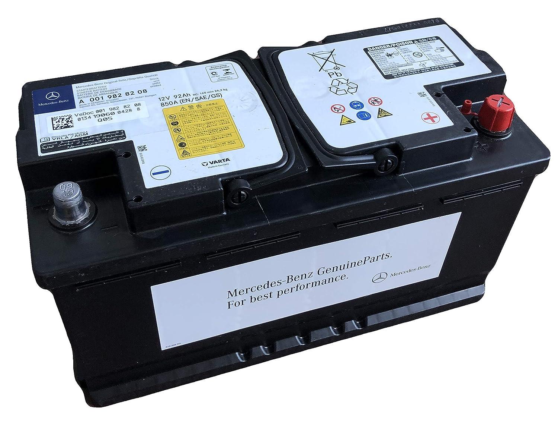 Mercedes Benz A0019828208 Autobatterie 92aH 12V 850A AGM auslaufsicher I Ersatz f/ür 95aH Autobatterien