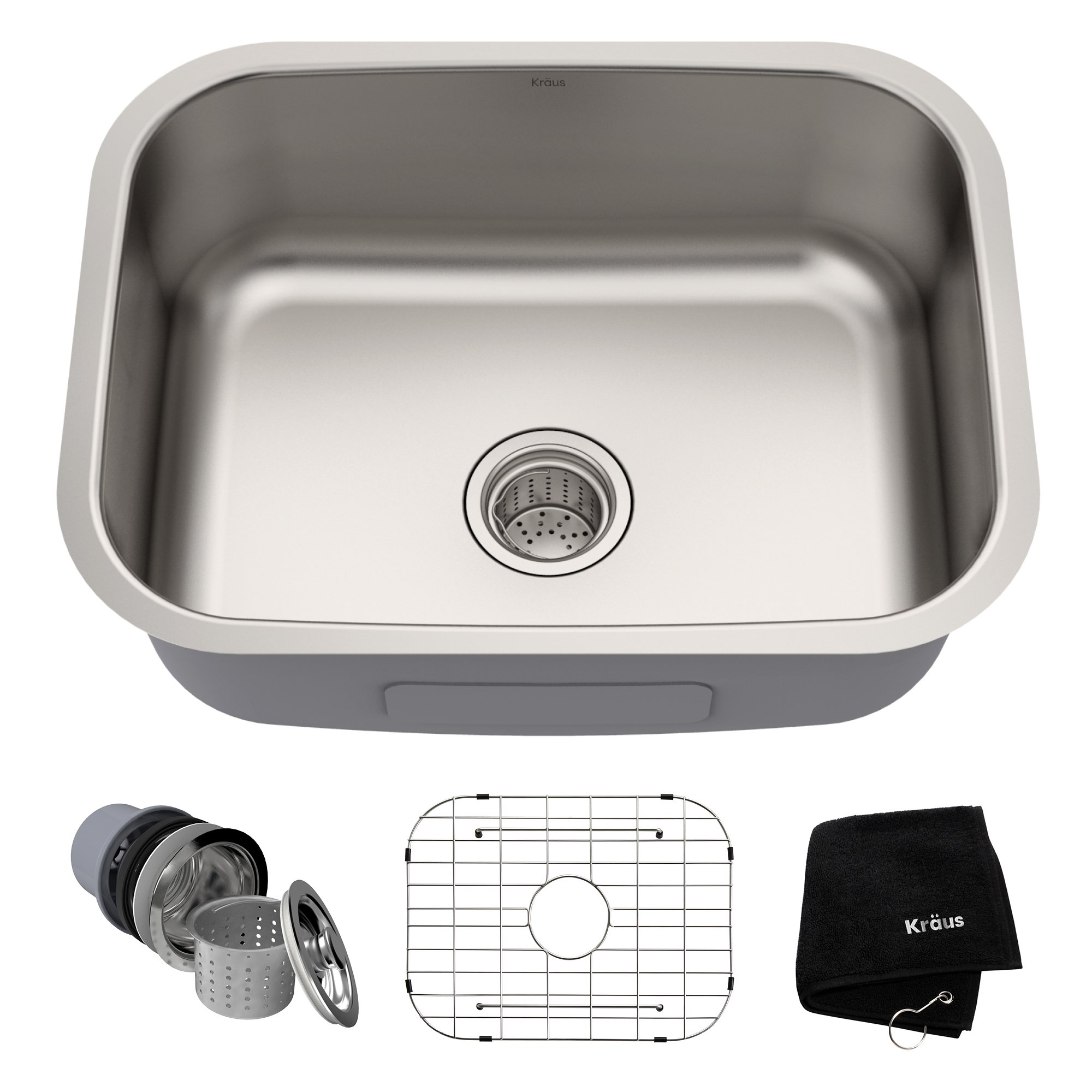 Kraus KBU12 23 inch Undermount Single Bowl 16 gauge Stainless Steel Kitchen Sink by Kraus (Image #2)