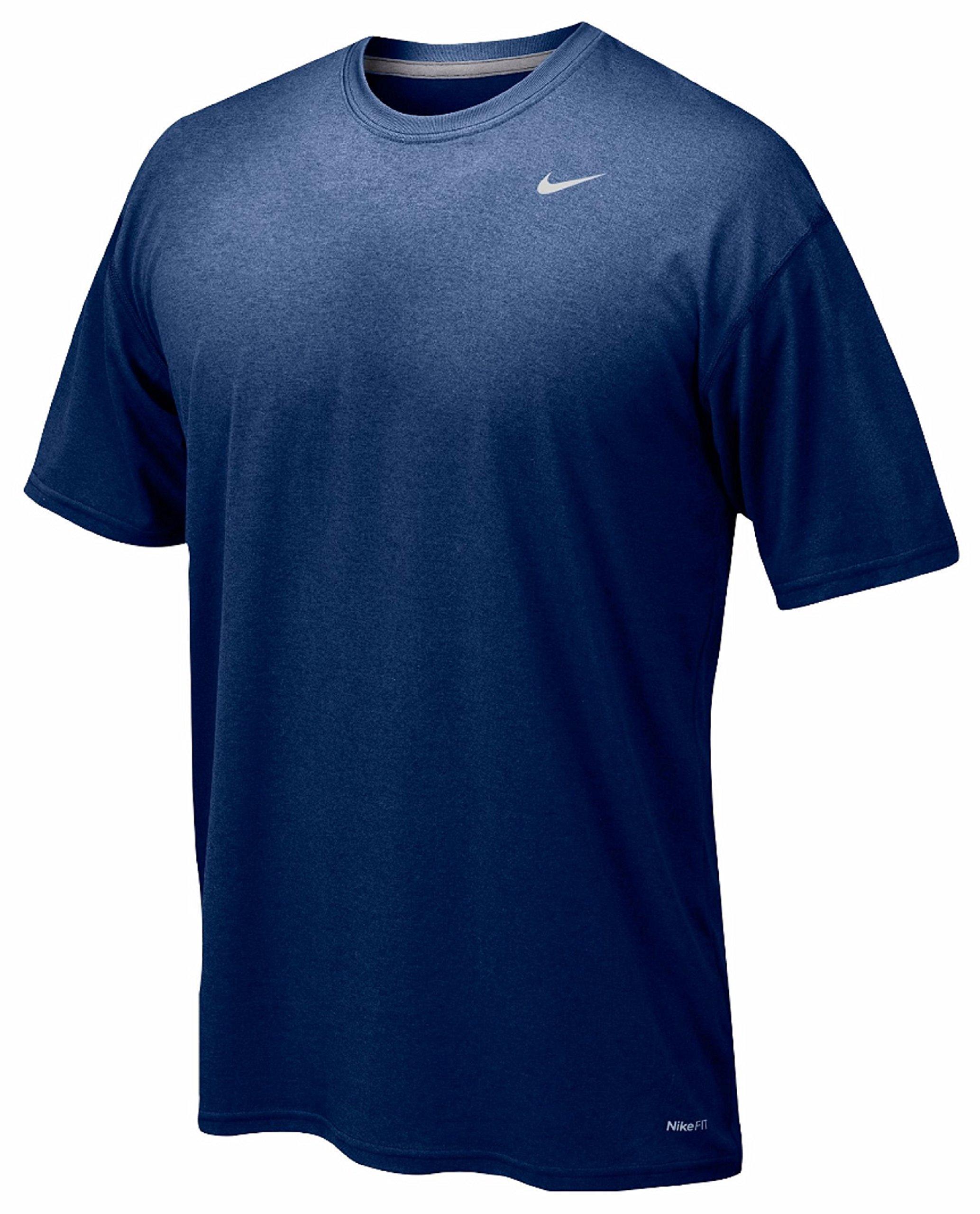 Nike Youth Boys Legend Short Sleeve Tee Shirt (Youth Large, Navy)