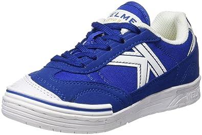 Kelme Unisex-Kinder Trueno Sala Futsalschuhe, Elfenbein (White/Blue), 31 EU