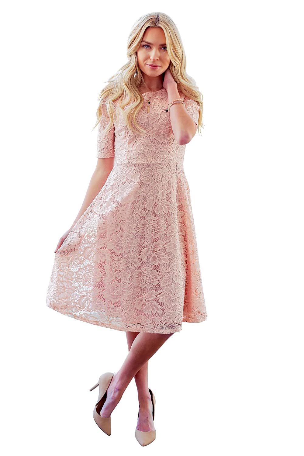 845831ee58d3f Gorgeous full-lace Modest Dress is stunning & unique! Perfect for wearing  to church, a semi-formal dance, holiday parties or as a Modest Bridesmaid  Dress!