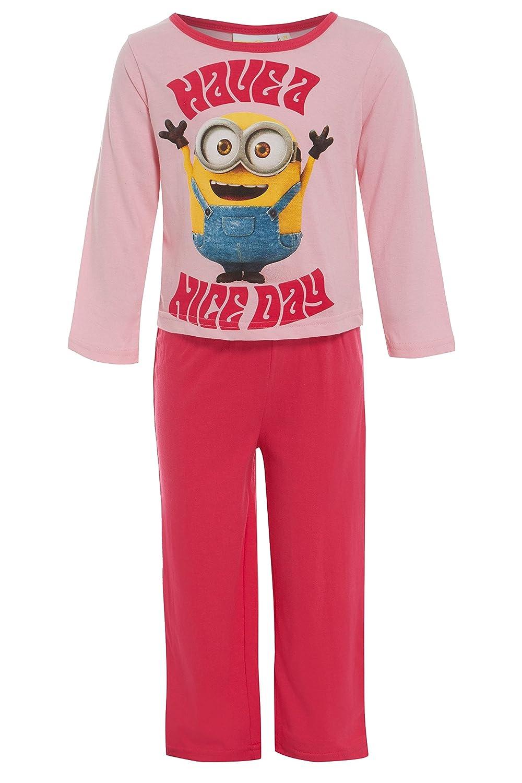 5e5c881c5146 MINIONS Girls 100% Cotton Pyjamas Official Pink PJs Illumination  Entertainment  Amazon.co.uk  Clothing