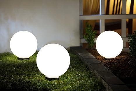 Illuminazione giardino con sfere: set di palline led solare luci da