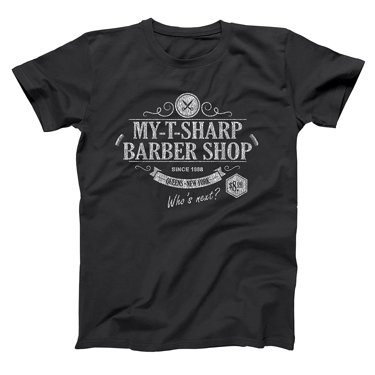 Amazon.com: My T Sharp Barber Shop Funny Classic Barbershop New York Queens  Coming America Old School 80s 90s Movie Humor Mens Shirt: Clothing