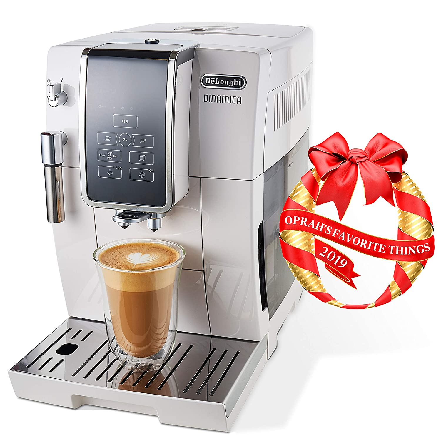 De'Longhi Dinamica Automatic Coffee & Espresso Machine TrueBrew (Iced-Coffee), Burr