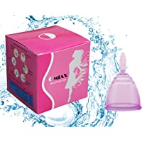 Omiax&Trade; Feminine Hygiene Reusable Soft Silicone Menstrual Cup Starter Kit (Small, Purple)