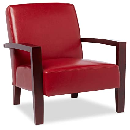 Amazoncom Burnt Red Leather Lounge Chair Subtle And Vibrant