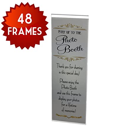 Amazon.com - 48 Acrylic Magnetic Photo Booth Frames with Inserts for ...