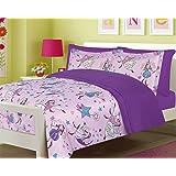 Girls Bedding Full 7 Pc. Fairy Princess Purple Comforter and Sheet Set