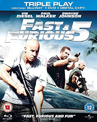 fast furious 5 blu ray dvd region free amazon co uk