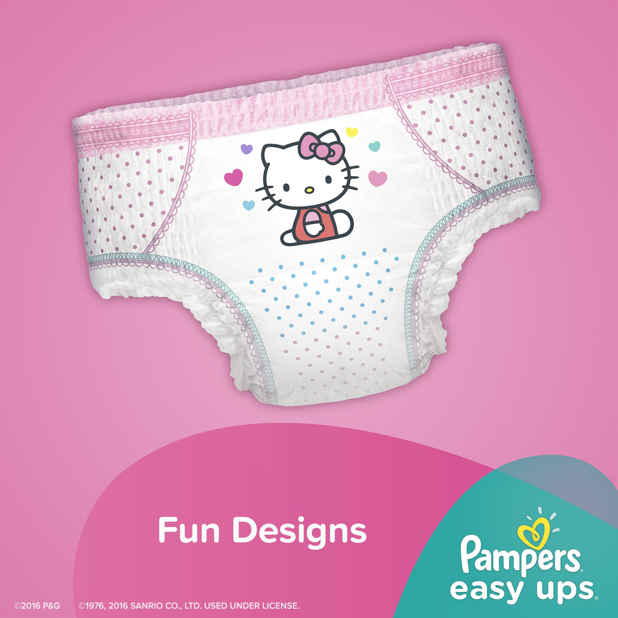 Pampers Easy Ups Training Pants Pull On Disposable Diapers for Girls Size 5 (3T-4T), 148 Count, ONE MONTH SUPPLY by Pampers (Image #4)