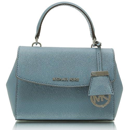 e0bbfae9f MICHAEL MICHAEL KORS Ava Extra-Small Saffiano Leather Crossbody Denim:  Amazon.in: Shoes & Handbags