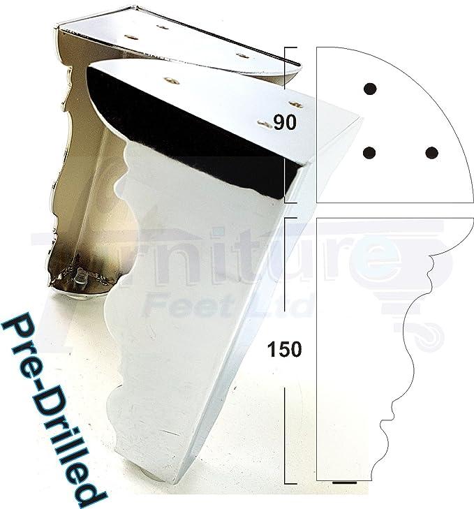 Amazon.com: knightsbrandnu2u 4 x Cromo patas para muebles ...