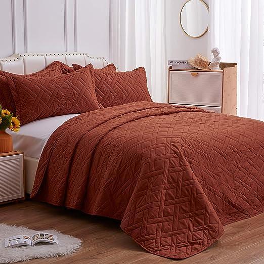 SunStyle Home Quilt Set Umber King Size(106