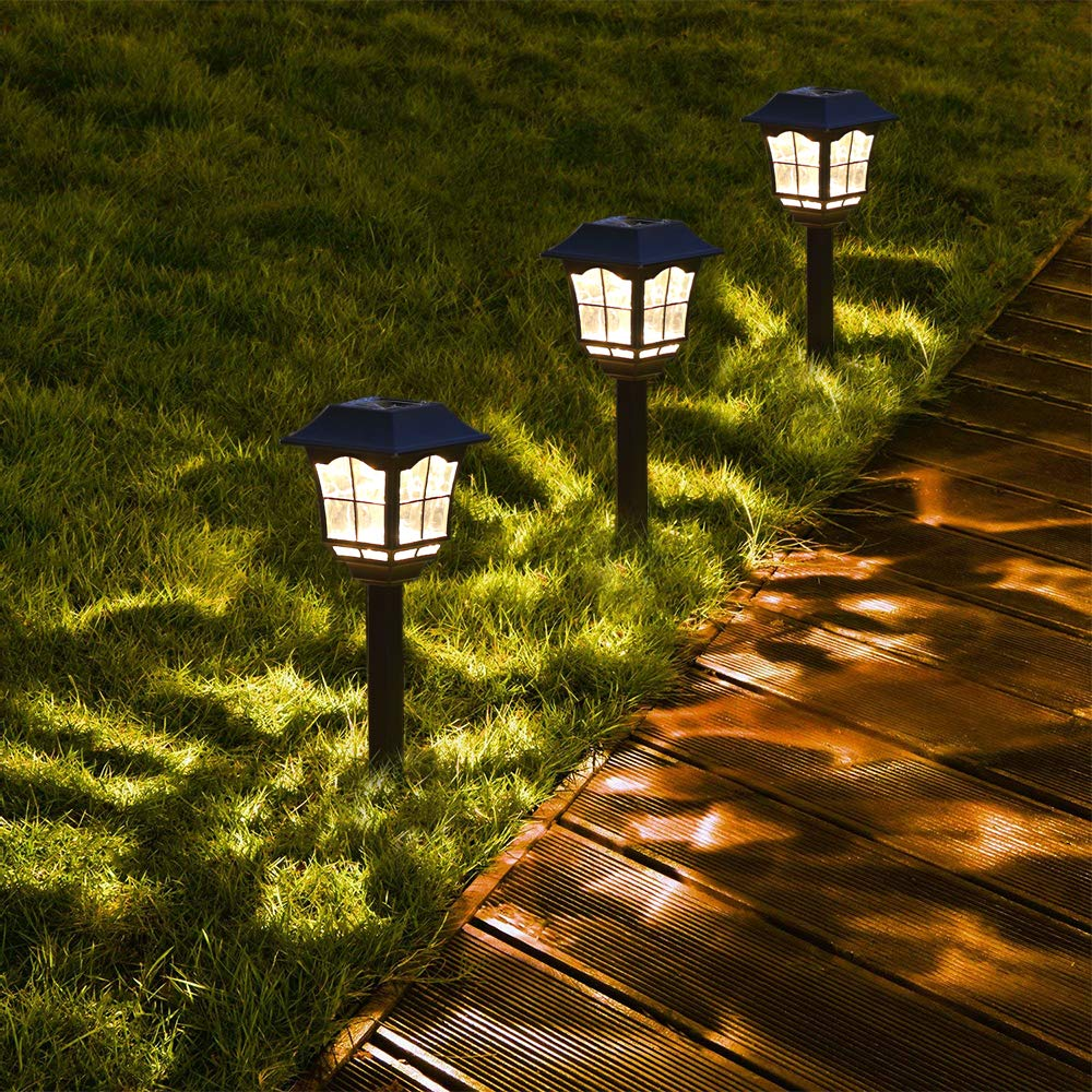 Petrala Solar Path Lights Outdoor Waterproof 6 lumens Landscape Lighting for Pathway Garden Decoration Walkway Driveway Yard Lawn, 8 Pack
