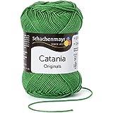 Wolle Catania Schachenmayr - Catania Schachenmayr, Wolle zum Stricken aus hochwertiger Baumwolle für farbenfrohe Designs! Wolle zum Häkeln, Catania Wolle in moos Fb 412 (grün, moosgrün), 100% Baumwolle, Sommerwolle Catania, Baumwolle zum Stricken, Baumwolle zum Häkeln