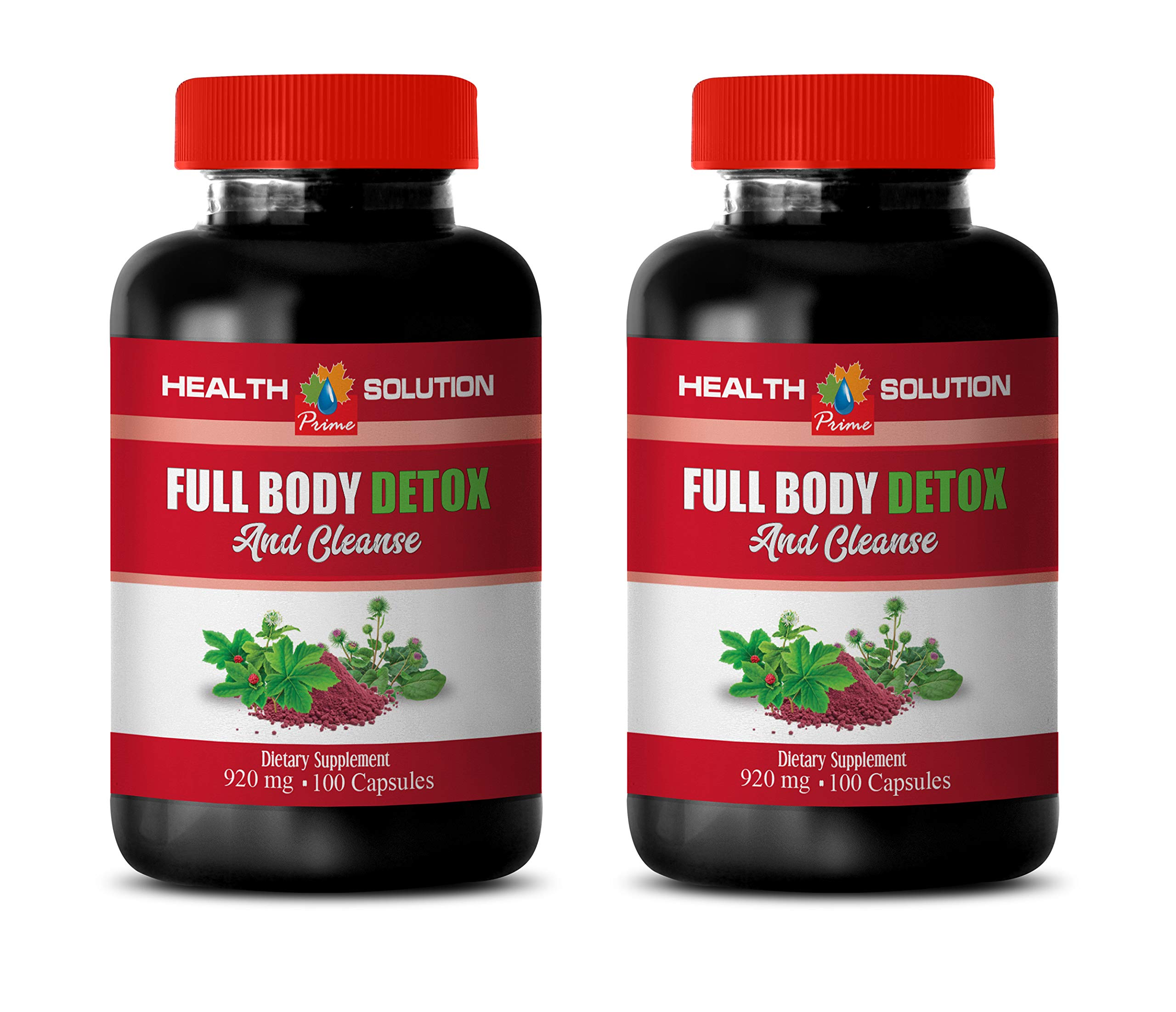Detox Cleanse Weight Loss and Belly Fat - Full Body Detox and Cleanse 920 MG - Milk Thistle Herbal Supplement - 2 Bottles 200 Capsules