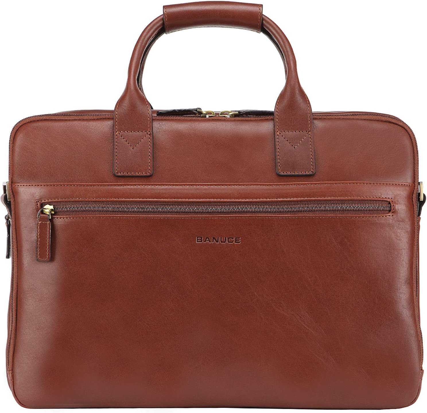 Banuce Vintage Full Grains Italian Leather Handbag for Women Briefcase a4 Business Bag Tote Attache Case 13 Inch Laptop Case Ladies Large Capacity Handle Purse