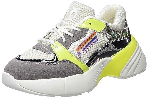 Pinko Smeraldo Sneaker Rete Tecnica, Zapatillas sin Cordones para Mujer: Amazon.es: Zapatos y complementos