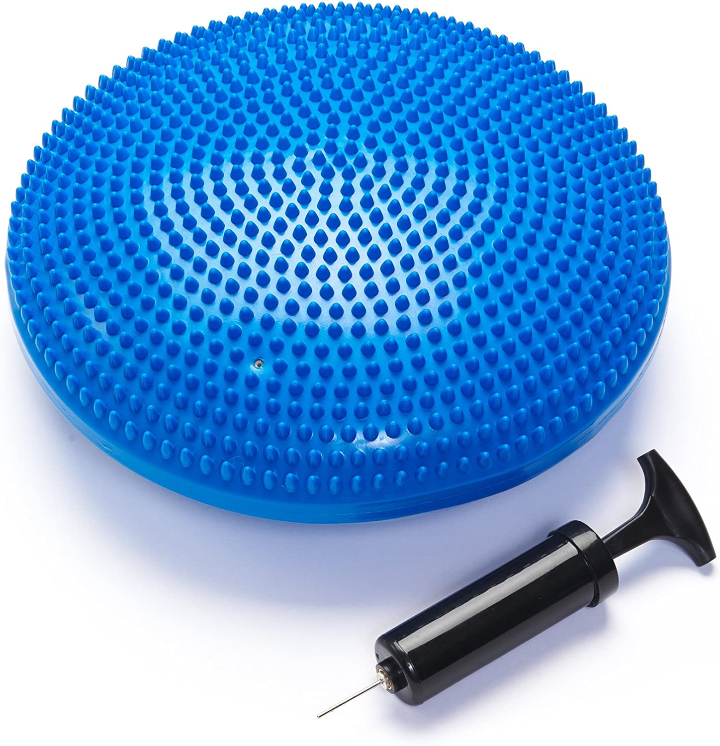Black Mountain Products Exercise Balance Stability Disc with Hand Pump, Blue : Sports & Outdoors