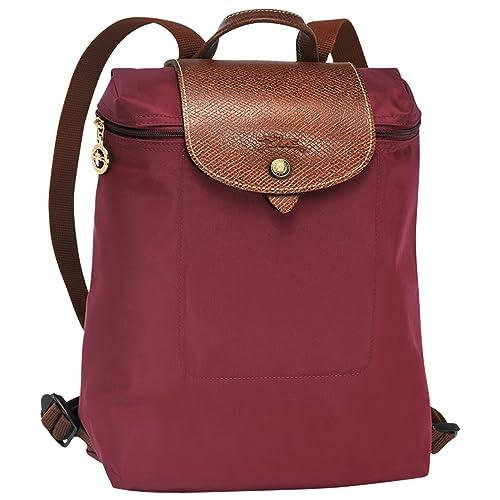 Longchamp - Bolso mochila para mujer granate: Amazon.es: Zapatos y complementos