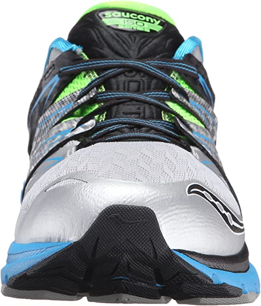 Details about [S20314 1] New Men's Saucony Zealot ISO 2 Running Sneaker Blue Slime Silver