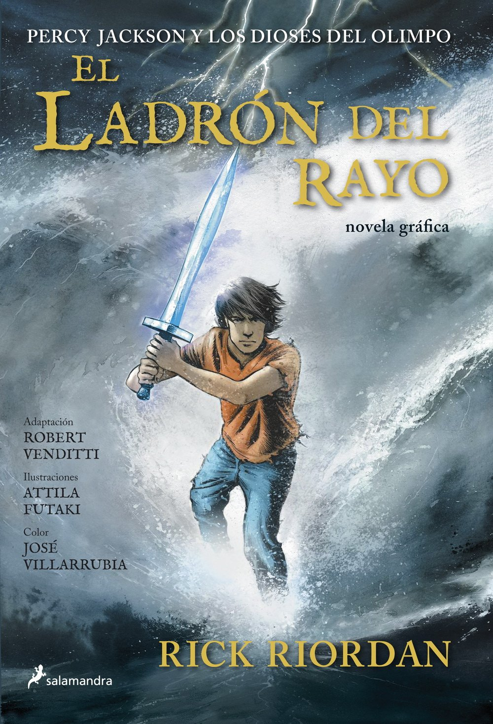 El ladrón del rayo: Percy Jackson y los Dioses del Olimpo I Novela Gráfica:  Amazon.es: Rick Riordan: Libros