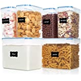 Vtopmart Airtight Food Storage Containers 6 Pieces - Plastic PBA Free Kitchen Pantry Storage Containers for Sugar,Flour…