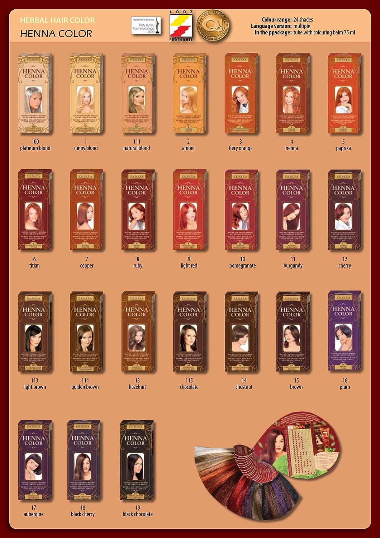 Venita Henna Color Herbal Bálsamo para el cabello marrón Nº ...