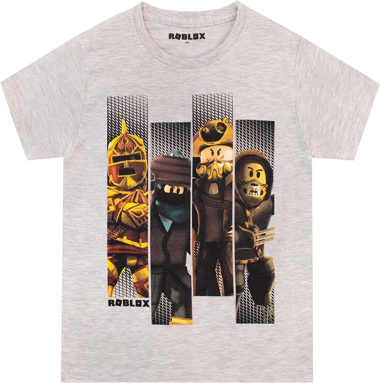 Roblox Characters in Space Kids Black T-Shirt Short Sleeve Gamers Tee