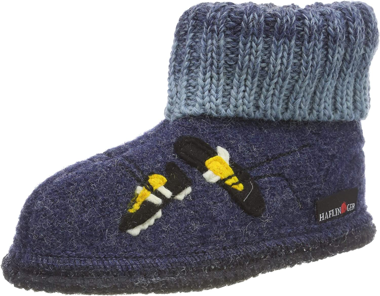 25 EU Blau Haflinger Unisex-Kinder H/üttenschuh Basti Pantoffeln Jeans 72