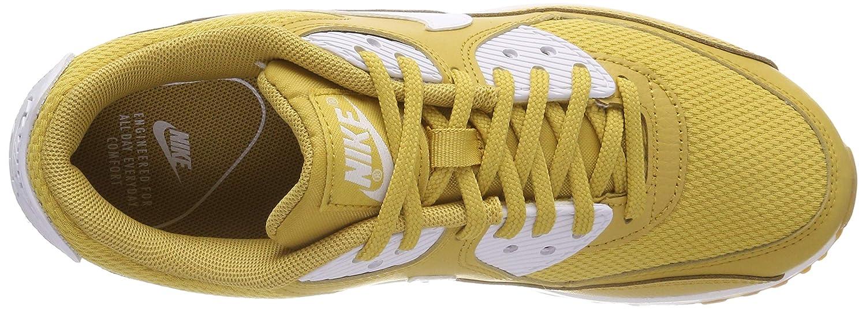 NIKE Air Max 90, Scarpe Multicolore da Ginnastica Donna Multicolore Scarpe Wheat Gold/White/Gum Light marrone/White 701) 42a8c2