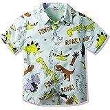 Boy's Coconut Tree Print Beach Tops Baby Aloha Hawaiian Shirt (1-5 Years Old)