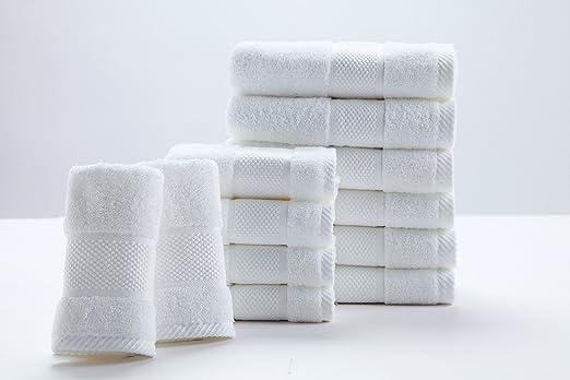 SUMC Juego de Toallas con 12 Toallas de Mano Toallas de baño ...