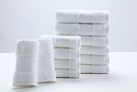 Sumc Juego de Toallas con 12 Toallas de Mano Toallas de baño pequeñas Toalla de algodón