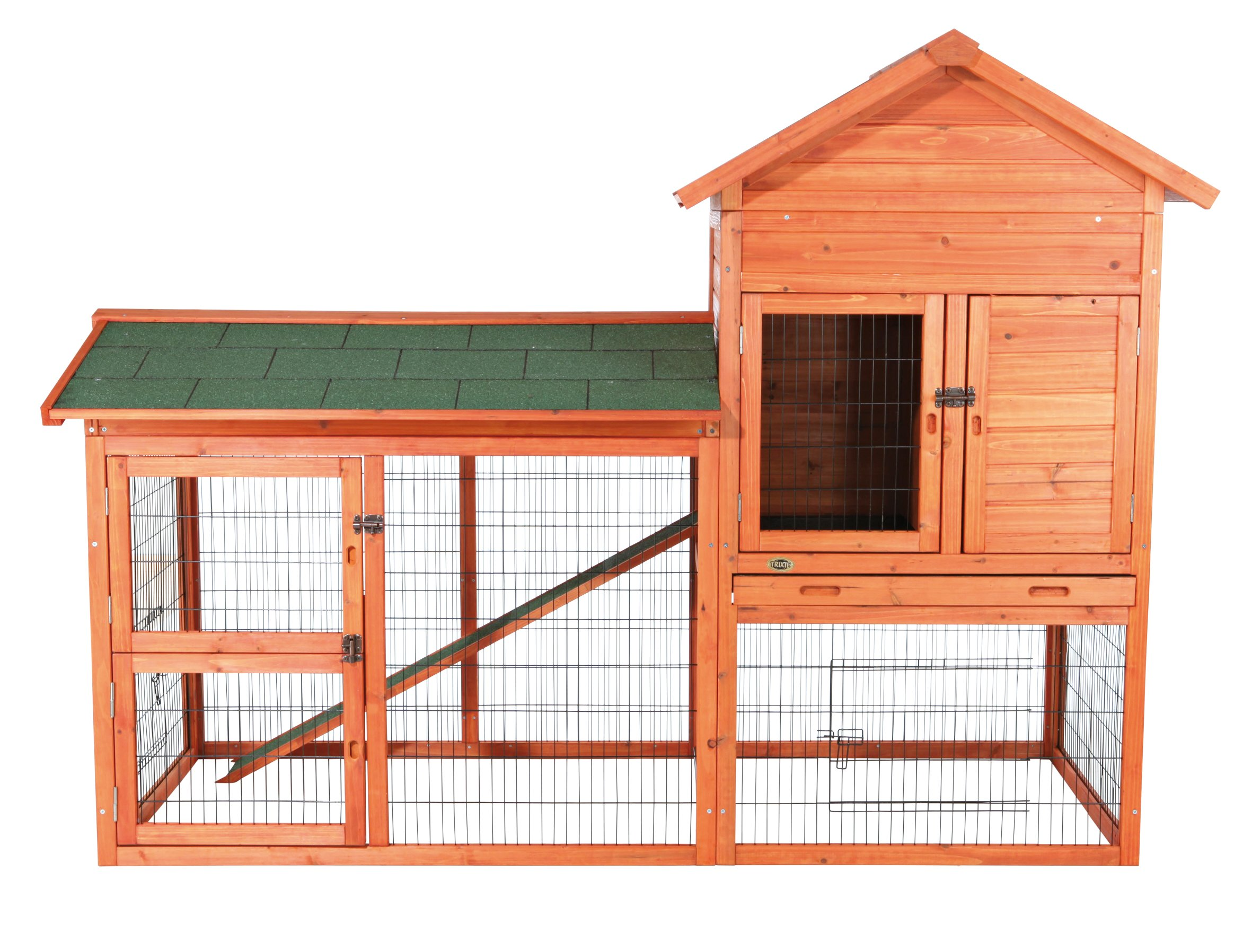 TRIXIE Pet Products Rabbit Hutch with Outdoor Run, 78.25 x 36.5 x 57.25 inches by Trixie