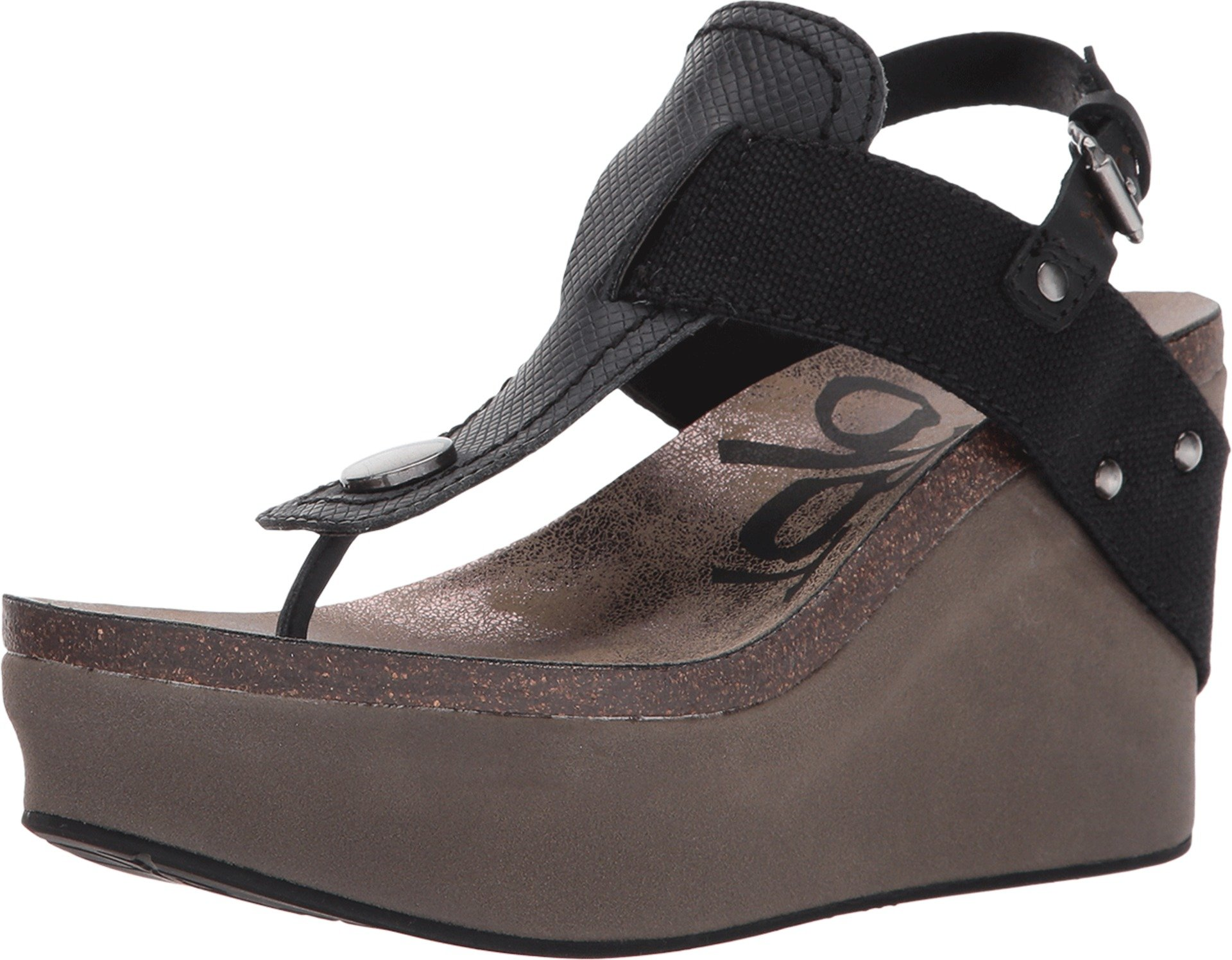 OTBT Women's Joyride Black Wedge (11) by OTBT