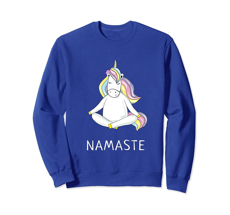Unicorn Ma Namaste Yoga Sweatshirt Bright Spiritual Wear-Awarplus