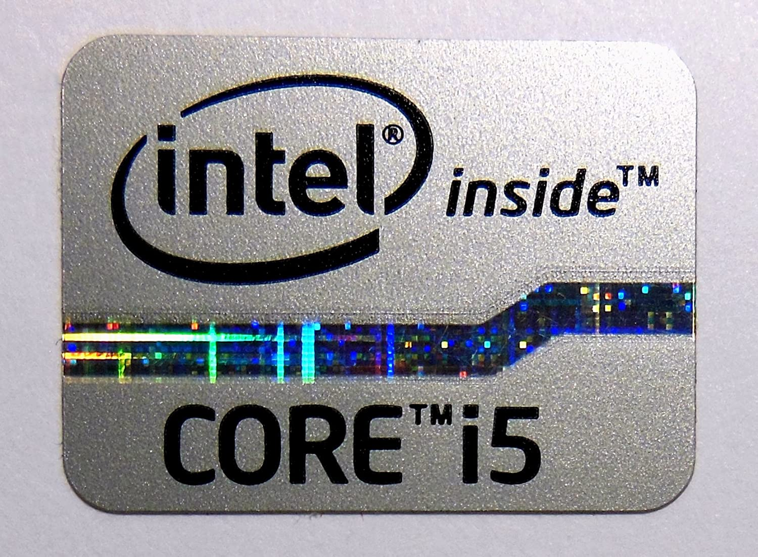 New Intel CORE i5 Graphic by Intel CORE i5 Sticker Label Replacement 1 Piece
