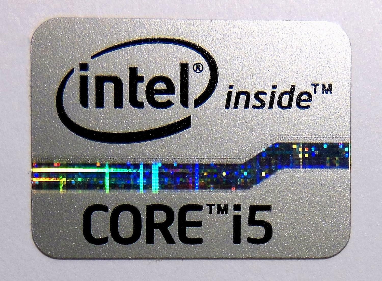 704 Original Intel Core i5 Inside Sticker Silver Edition 15.5 x 21mm