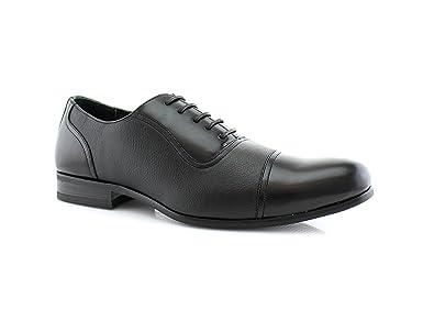 Black white dress shoes