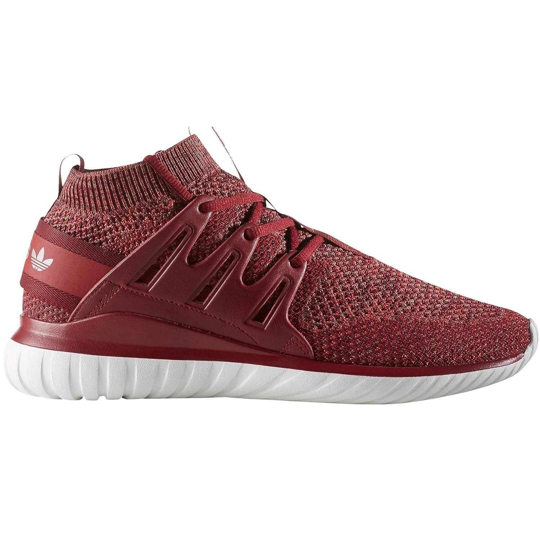 Adidas Tubular Nova Pk Primeknit Schuhe für Männer. Bequem und Leicht. Laufen, Trainer, Turnschuhe. (42 EU - 8UK, Mystery rot Collegiate Burgundy)