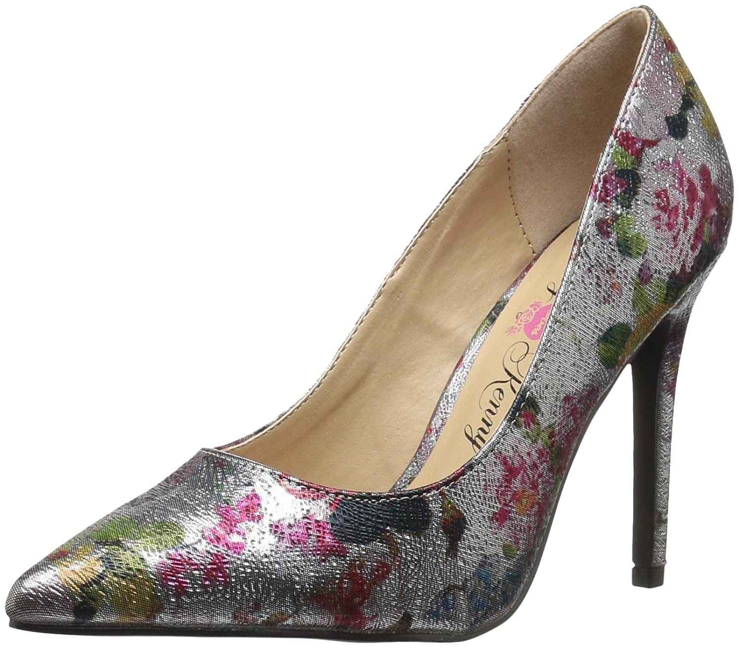 Penny Loves Kenny Women's Opus Metf Pump B073VT51FW 10 B(M) US|Pewter Metallic Floral